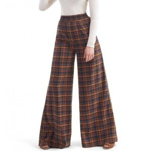 Collectif Modcloth Wide Leg Plaid Pants Pinup Mod